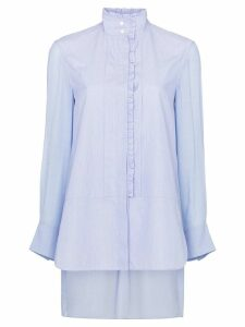 Chloé ruffle trim cotton shirt - Blue