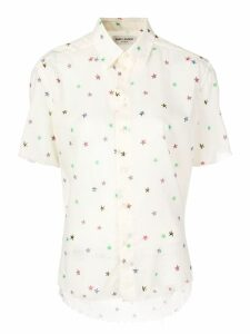 Saint Laurent star print shirt - NEUTRALS