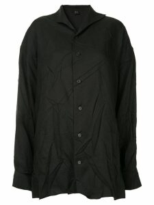Y's crinkled classic shirt - Black