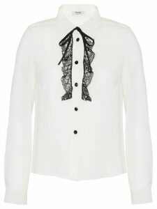 Miu Miu lace trim blouse - White