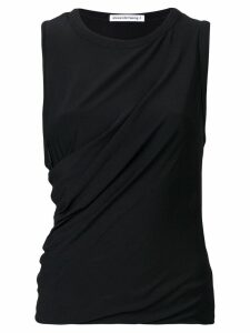 T By Alexander Wang ruched tank top - Black