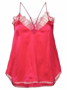 IRO lace detail top - PINK