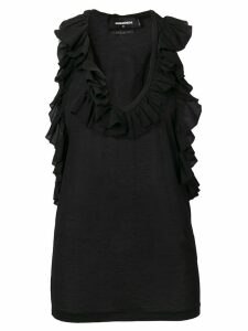 Dsquared2 ruffled vest top - Black