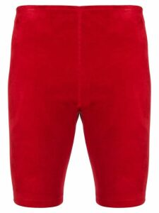 Manokhi fitted racing shorts - Red