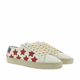 Saint Laurent Sneakers - Star Print Sneakers White/Red/Blue - white - Sneakers for ladies