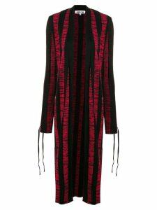 McQ Alexander McQueen long knitted cardigan - Black