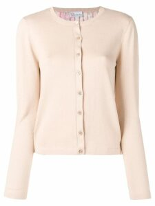 Red Valentino pleated knitted cardigan - Neutrals
