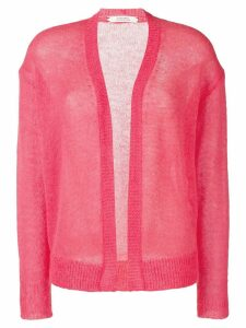 Dorothee Schumacher semi-sheer fuzzy cardigan - Pink