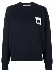 Alexander Wang contrast logo sweatshirt - Black