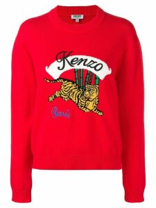 Kenzo Tiger knit jumper - Red