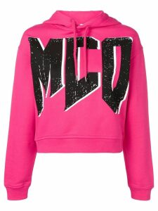 McQ Alexander McQueen McQ logo print hoodie - PINK