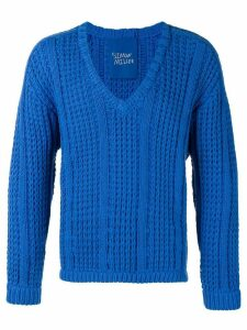 Simon Miller v-neck knitted sweater - Blue