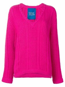 Simon Miller v-neck knitted sweater - PINK