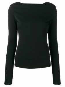 Givenchy back floral lace detail jumper - Black