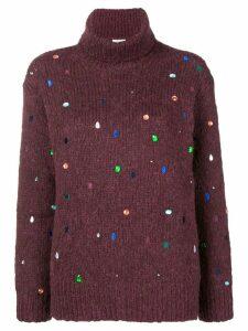 Kenzo Bijou turtleneck sweater - Red