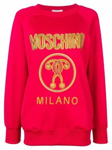 Moschino embroidered logo sweatshirt