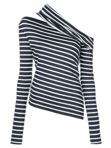 Monse asymmetric striped sweatshirt - Blue