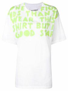 Maison Margiela slogan-print T-shirt - White
