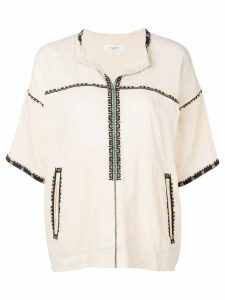Isabel Marant Étoile Rikki embroidered trim top - NEUTRALS