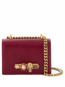 Alexander McQueen embellished crossbody bag - Red