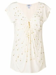 Moschino Pre-Owned 2000's pin embellished blouse - Neutrals