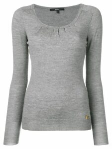 Gucci Pre-Owned 2000's gathered knitted top - Grey