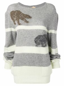 Krizia Pre-Owned embroidered jumper - Grey