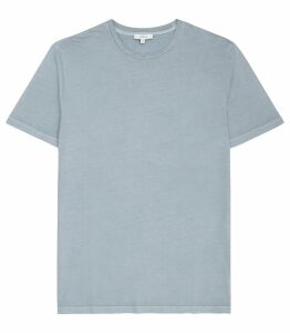 Reiss Heath - Garment Dyed T-shirt in Airforce Blue, Mens, Size XXL
