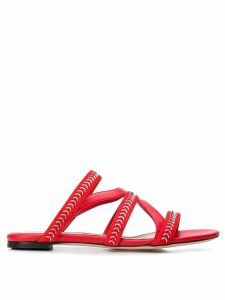 Alexander McQueen strappy flat sandals - Red