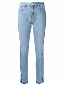 MSGM logo band skinny jeans - Blue