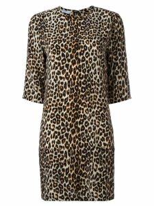 Equipment leopard print dress - Black