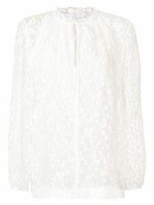 Chloé floral lace blouse - White