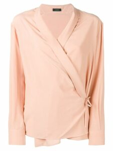 Joseph wrap shirt blouse - PINK