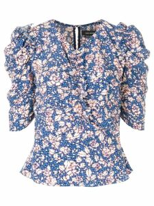 Isabel Marant V-neck printed blouse - Blue