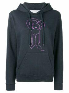Société Anonyme logo printed hoodie - Blue