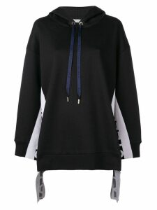Stella McCartney logo stripe hoodie - Black