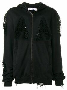 Almaz distressed hoodie - Black
