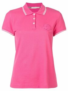 Moncler logo embroidered polo top - PINK