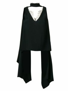Almaz cut-out chest top - Black