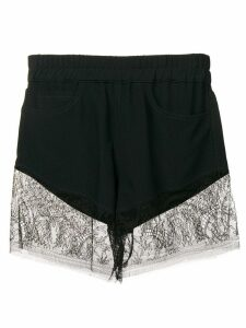 Almaz lace trim shorts - Black