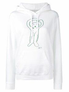 Société Anonyme logo printed hoodie - White