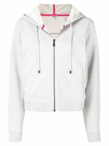 Kenzo tiger embroidered zip front hoodie - Grey