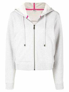 Kenzo tiger embroidered zip front hoodie - Grey