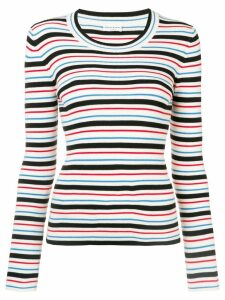 Sonia Rykiel striped ribbed knit sweater - NEUTRALS