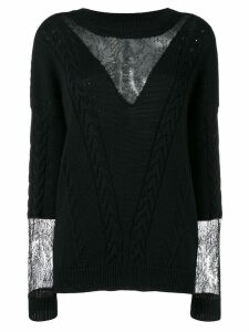 Almaz cable knit jumper - Black