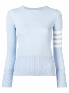Thom Browne 4-Bar Cashmere Pullover - Blue