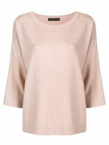 Fabiana Filippi contrast trim cashmere sweater - Neutrals