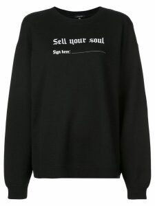 R13 oversized slogan print sweatshirt - Black