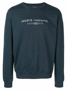 Société Anonyme logo print sweatshirt - Blue
