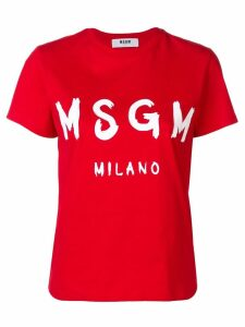 MSGM logo printed T-shirt - Red